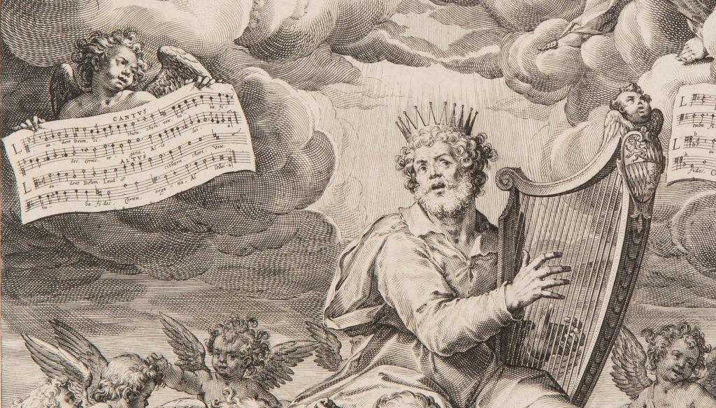 King David plays the harp.